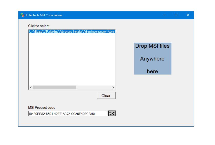 MSIcodeViewer - EhlerTech